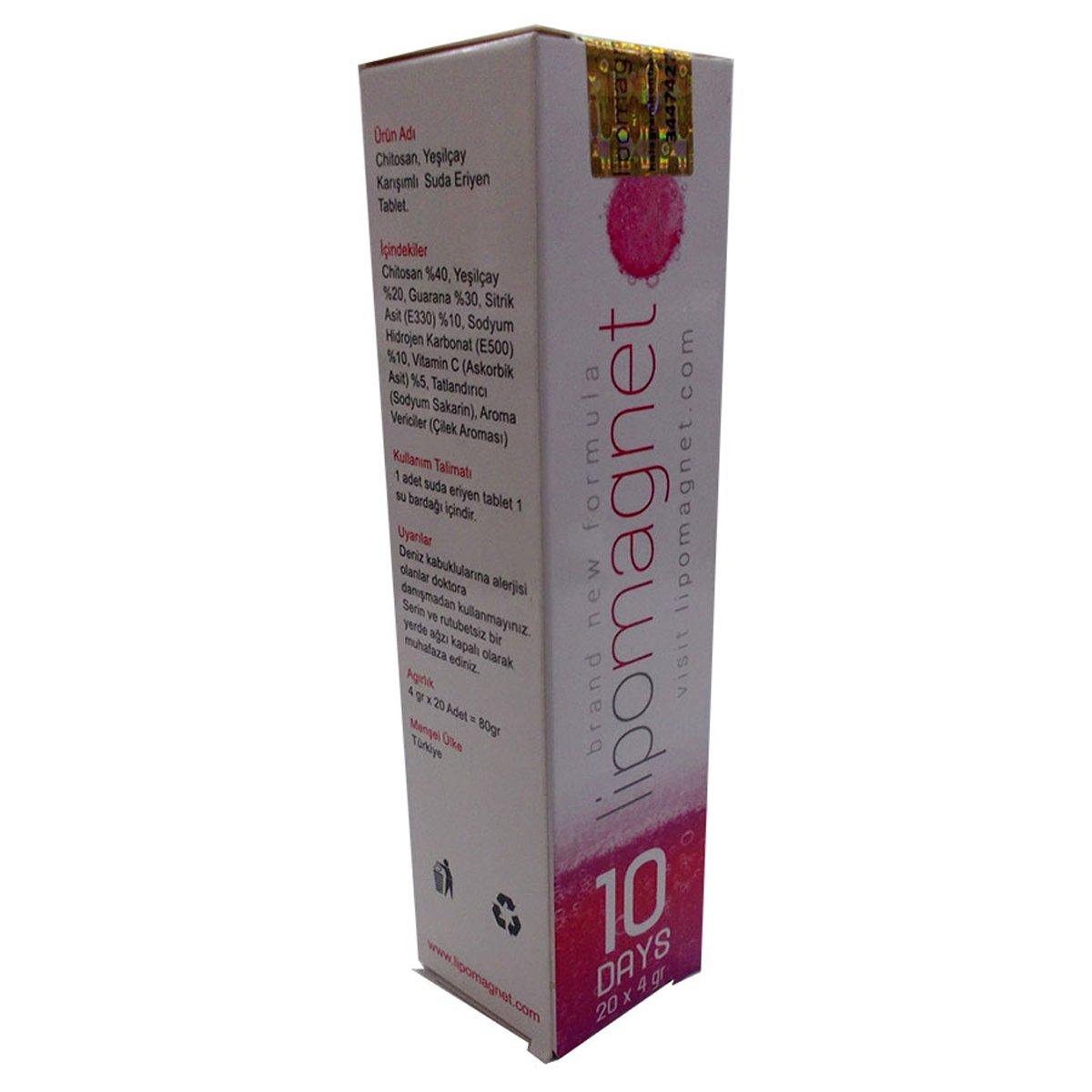 Lipomagnet 10 Days Bitkisel 10 Tablet Çay 80Gr ürünü LokmanAVM mağazamızdan güvenle satın alın!
