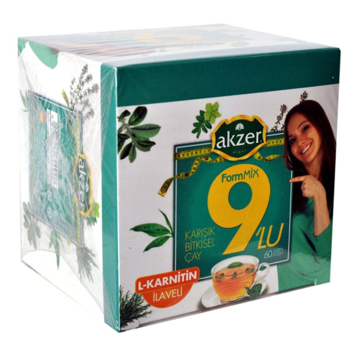 Akzer 9lu Form Bitkisel Çay 60 Süzen Pşt ürünü LokmanAVM mağazamızdan güvenle satın alın!